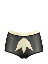 Morgan Lane Cleo Silk Mesh High Cut Brief