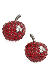 Marc By Marc Jacobs Women's Marc Jacobs 'Cherry' Pave Stud Earrings Cherry Multi