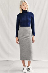 Urban Renewal Remade Fleece Midi Skirt Grey