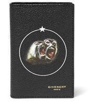 Givenchy Monkey Brothers Printed Faux Textured Leather Cardholder Black