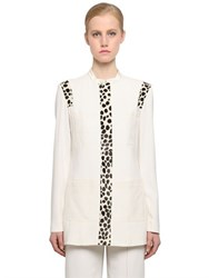 Edun Stretch Viscose Jacket With Ponyskin