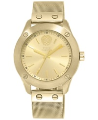 Vince Camuto Women's Gold Tone Stainless Steel Mesh Bracelet Watch 42Mm Vc 5224Chgb