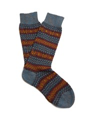 Pantherella Scott Nichol Burghley Socks Blue Multi