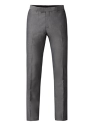 Limehaus Men's Harry Silver Grey Tonic Skinny Fit Trousers Grey