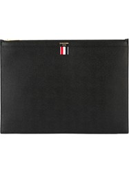 Thom Browne Large Zip Clutch Black