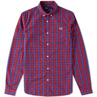 Fred Perry Tartan Gingham Shirt Red