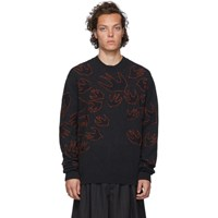Mcq By Alexander Mcqueen Grey Swallow Knit Sweater