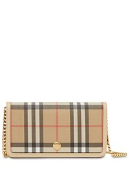 Burberry Vintage Check Leather Iphone Case Beige