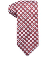 Tasso Elba Men's Tacoma Medallion Classic Tie Only At Macy's Red