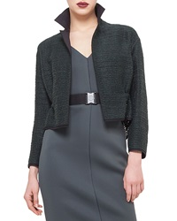 Akris Punto Drawstring Waist Cropped Jacket Bottle