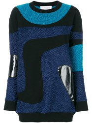 Gianluca Capannolo Patched Marble Knit Sweater Multicolour