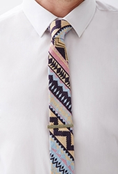 Forever 21 Southwestern Patterned Tie Yellow Purple