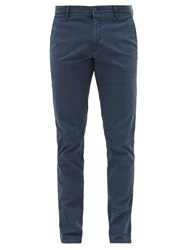 Incotex Tailored Stretch Cotton Twill Chinos Navy