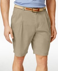 Club Room Men's Double Pleated Shorts Only At Macy's