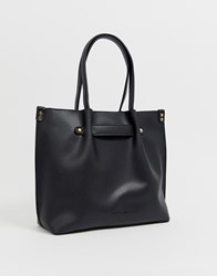 Melie Bianco Slouch Large Shoulder Bag Black