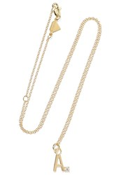 Alison Lou Letter 14 Karat Gold Diamond Necklace Y