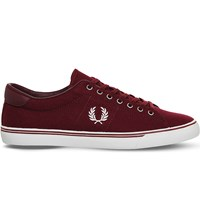 Fred Perry Underspin Canvas Trainers Port Snow White