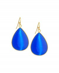 Panacea Glass Teardrop Earrings Blue