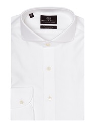 Chester Barrie Plain Tailored Fit Cutaway Collar Formal Shirt White