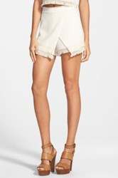 J.O.A. Tassel Mini Skort Juniors White