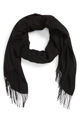 Nordstrom Women's Tissue Weight Wool And Cashmere Scarf Black