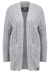 Superdry Aran Cardigan Grey Marl