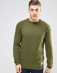 Bellfield Crew Neck Jumper Green