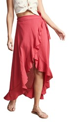 9Seed Solana Wrap Skirt Cherry Red