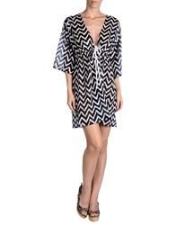 Milly Cabana Cover Ups Dark Blue