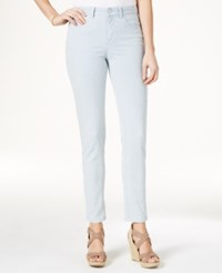 Charter Club Petite Striped Tummy Control Bristol Skinny Ankle Pants Only At Macy's Seaside Wash