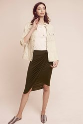Anthropologie Molly Knotted Skirt Green