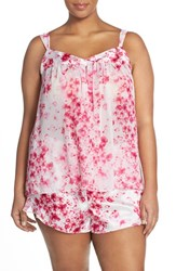 Plus Size Women's Oscar De La Renta Sleepwear Camisole And Short Pajamas