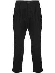 The Viridi Anne Cropped High Waisted Trousers Black