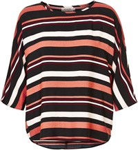 Soaked In Luxury Striped Blouse Multi Coloured Multi Coloured