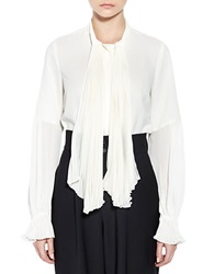 Pink Tartan Pleated Cuff Blouse Cream