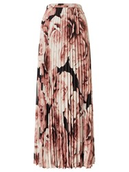 Jacques Vert Printed Plisse Maxi Skirt Multi Coloured