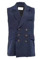 Song For The Mute Double Breasted Waistcoat Blue