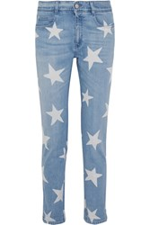 Stella Mccartney The Skinny Printed Boyfriend Jeans Light Denim