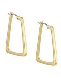 Laundry By Shelli Segal Goldtone Square Hoop Earrings