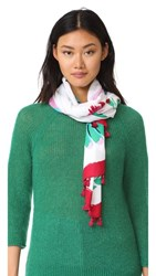 Kate Spade New York Hummingbird Oblong Scarf Bougainvillea