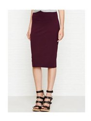 Alexander Wang T By High Lux Ponte Midi Skirt Aubergine
