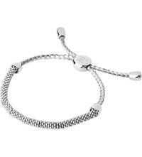 Links Of London Effervescence Xs Sterling Silver And Pewter Cord Bracelet