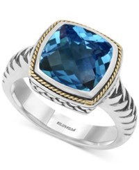 Effy Collection Balissima By Effy Blue Topaz 4 2 3 Ct. T.W. Ring In 18K Gold And Sterling Silver