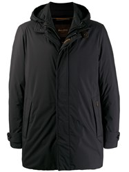 Moorer Hooded Padded Jacket Black