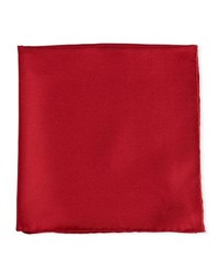 Psycho Bunny Solid Silk Twill Pocket Square Cranberry Crandberry