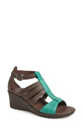 Keen 'Victoria' Leather Wedge Sandal Women Cascade Brown