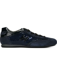 Hogan 'Olimpia' Sequin Sneakers Blue