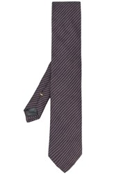 Canali Woven Pointed Tip Tie Blue
