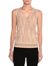 Missoni Sleeveless Space Cady Top Neutral Pattern