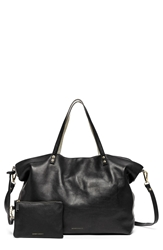 Hayden 'Two Way' Reversible Leather Tote Black Platinum Crackle